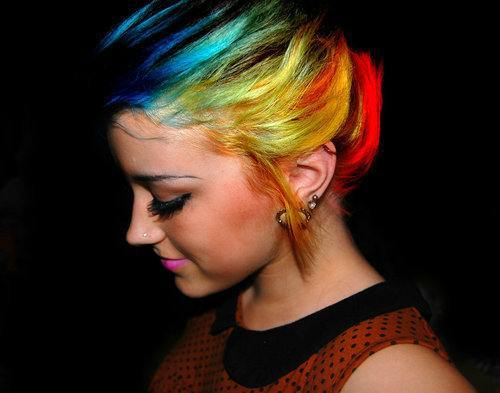 Amazing Color Cute Girl Hair Vintage