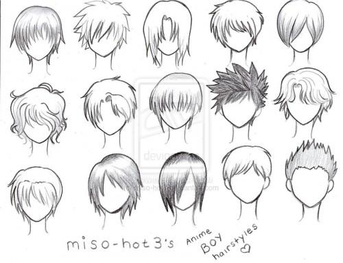 Anime Boy Hairstyles Drawing Posted Friday July
