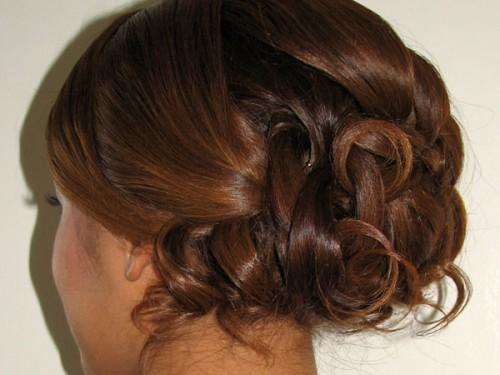 Attractive Back View This Long Hairstyle For Dark Brown Hair