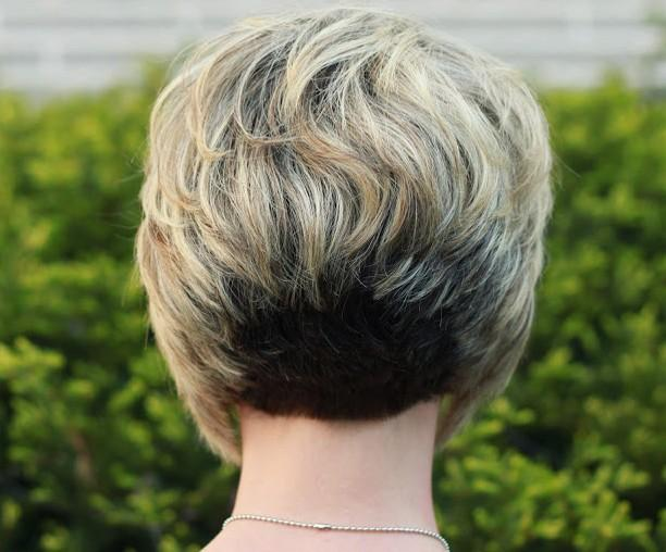 Back View Stacked Bob Hairstyle Layered Short For Sophie Hairstyles 26649