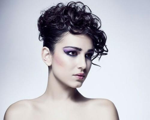 Black Curly Updo