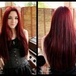 Black Hair Redcolors Dye Dark Red Color