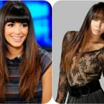 Black Roots Golden Brown Ends Ombre Sleek Straight Hairstyle