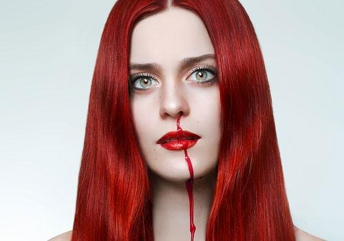 Blood Red Hair Color