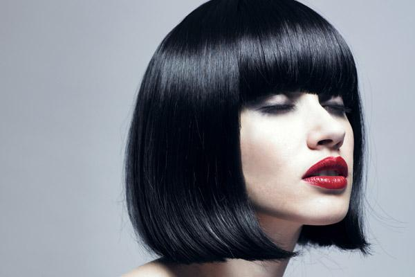 Bob Hairstyles Blunt Cut Bangs