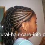 Braided Mohawk Cornrows Designs