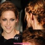 Braided Party Updo Hairstyle For New Years Eve
