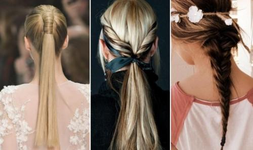 Braids Ponytails Hairstyles For Long Hair