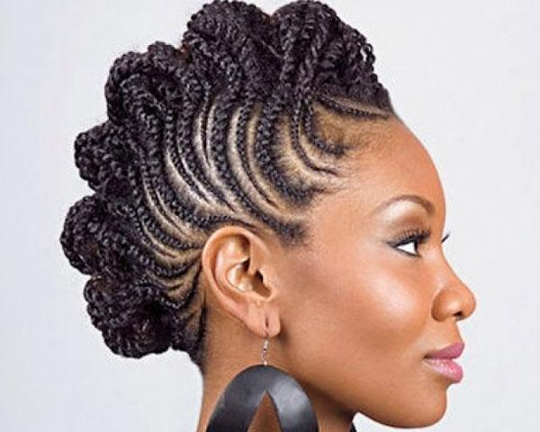 Braids Snake Across Head Create This Gorgeous Mohawk Hairstyle