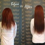 Brown Red Ombre Straight Hair