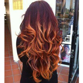 Burgundy Blonde Ombre Hair Just