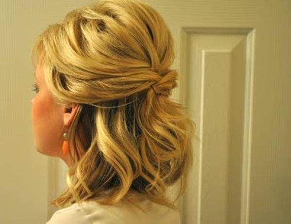 Cool Quick Half Hairstyle For Medium Length Thick Hair