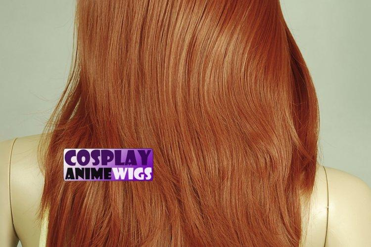 Copper Red Hair Color Chart Inch Temp Layer Wavy Cut Face Framing