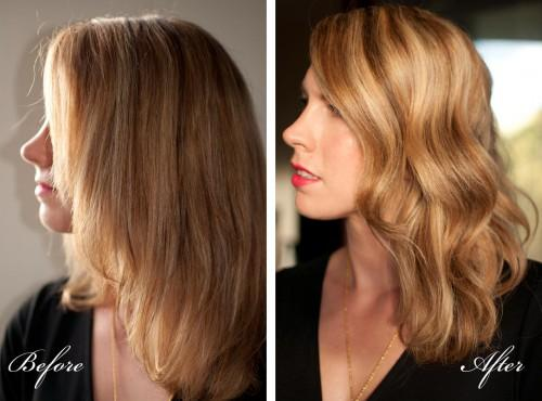 Curling Styling Steps
