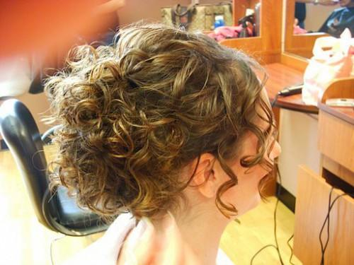 Curly Hair Updo Picture