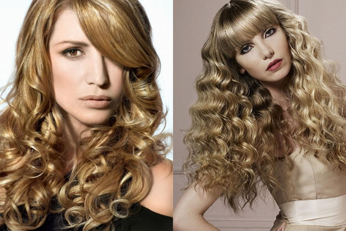 Curly Hairstyles Long Haircuts Blonde Color Lock