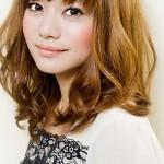 Cute Asian Shoulder Length Bob Hairstyles Bangs For Wavy Hair