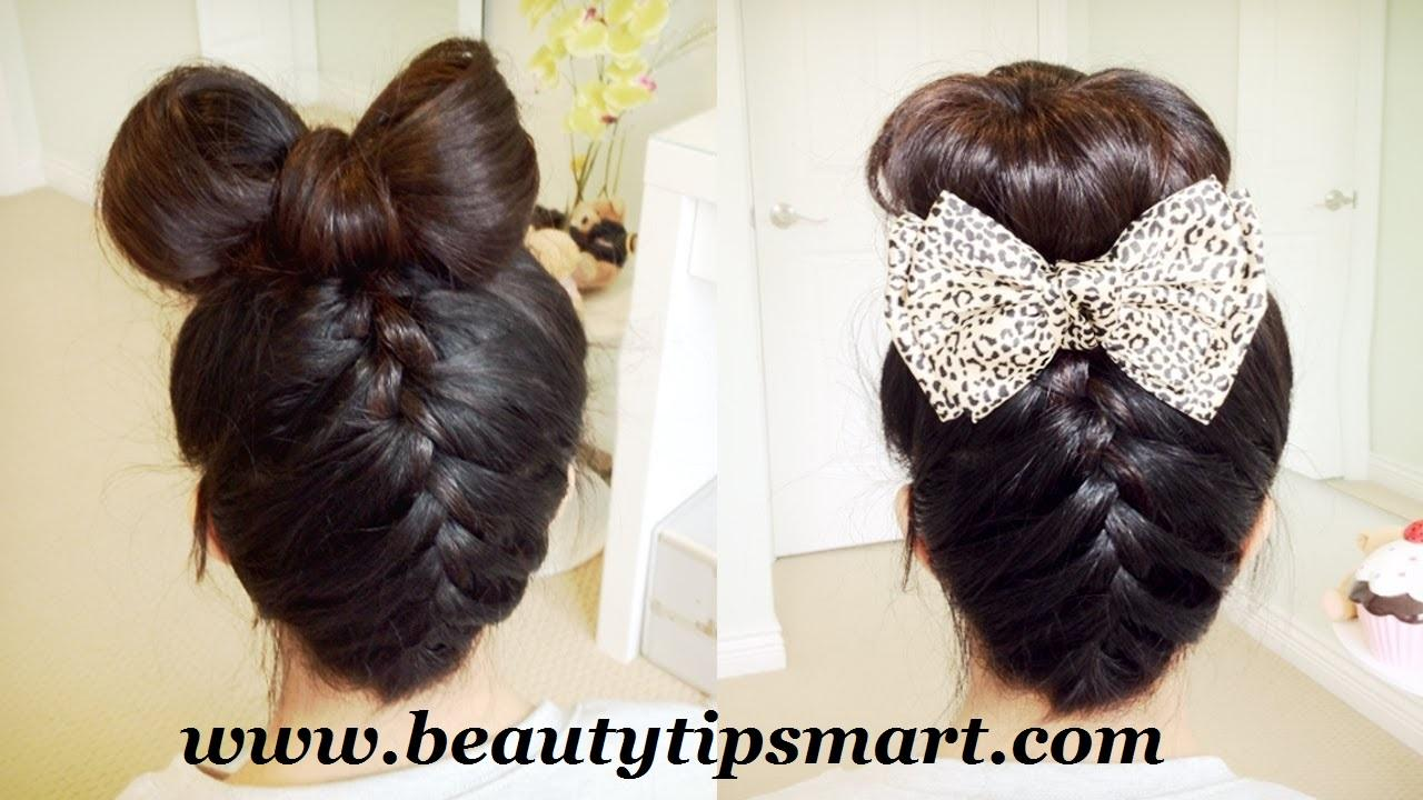 Cute Bow Hairstyles For Long Hair Step Easily