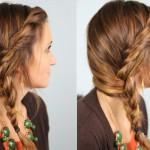 Cute Side Braided Hairstyle For Girls Easy Loose Braid Long