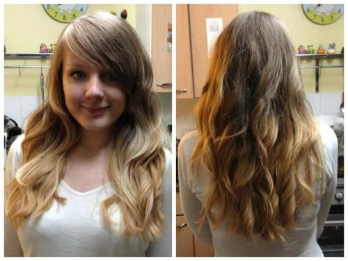 Diy Blonde Ombre Dip Dye Hair