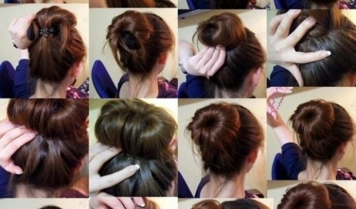 Donut Bun Hairstyle Beautiful Shoes Easy Hairstyles For Long Hair
