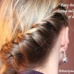 Easy Half Braid Perfect For Long Shorter Hair