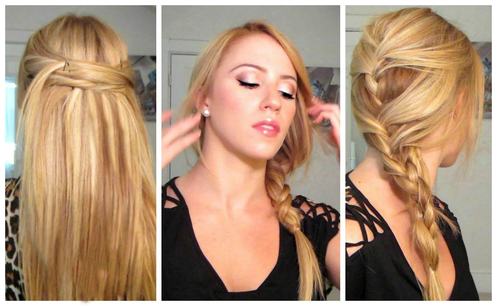 Easy Quick Heat Less Hairstyles Sophie Hairstyles 23405