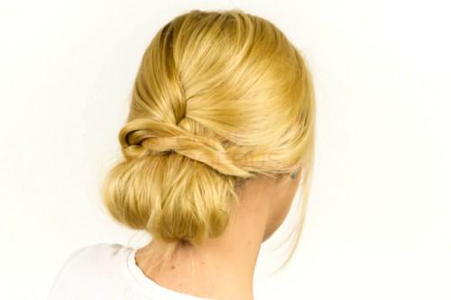 Easy Updo Hairstyle Finished Look
