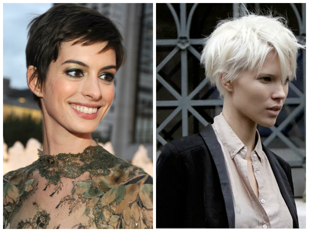 Edgy Pixie Hair Cut For Oval Face Shape