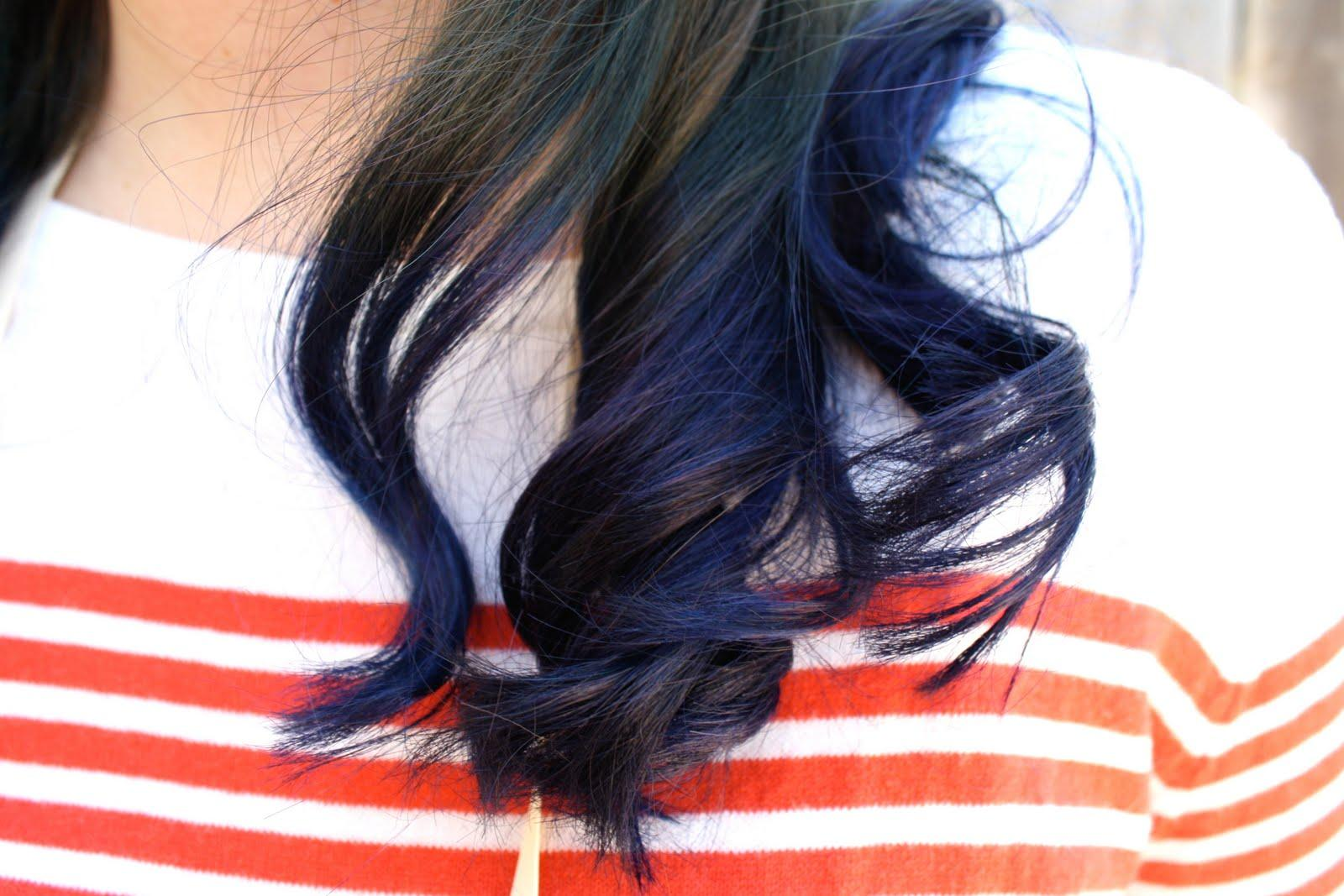 Eep Done Blue Hair Turning Back Well