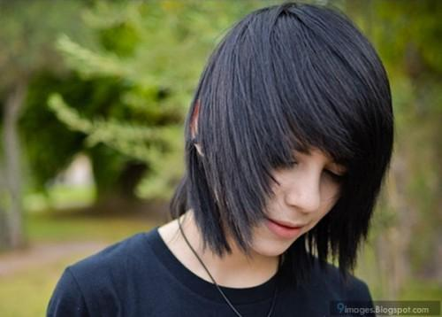 Emo Adorable Guy Hairstyle Looks Beautiful Cute Pics
