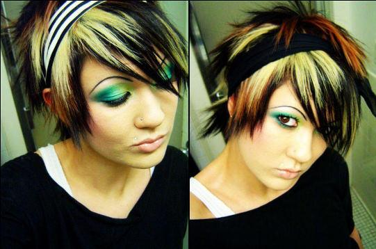 Emo Layered Hairstyle How Style Short Hair