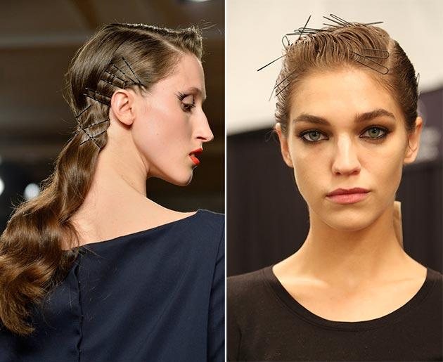 Fall Winter Hairstyle Trends Pinned Hair