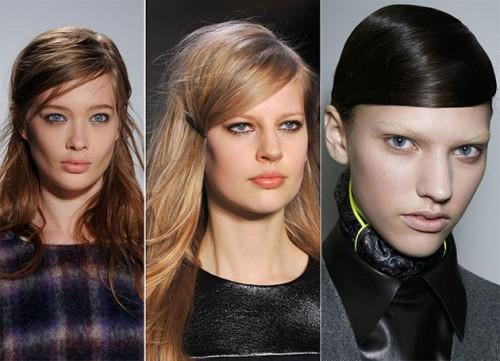 Fall Winter Hairstyle Trends Side Swept Hair