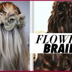 Flower Braid Hair Tutorial Half Prom Hairstyles
