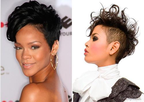 For Bold Look You May Shaved Mohawk Hairstyle Black