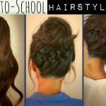 Free Hair Tutorial Video Cute School Hairstyles Updos Braids