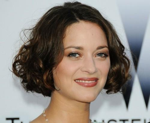 French Actress Marion Cotillard Cut Her Curly Brown Hair Short Several