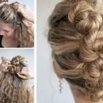 French Roll Twist Pin Hairstyle Wedding Hairstyles Updo