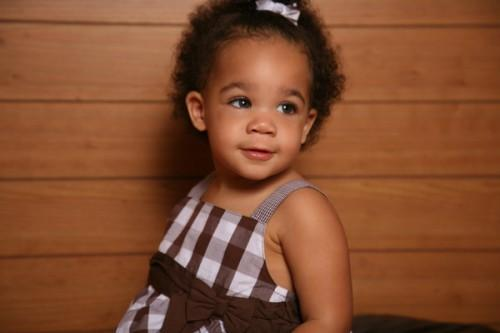 Front Ponytail Hairstyle African American Little Girls