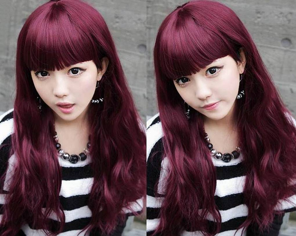 Hair Color Bangs For Long Wavy Stunning Colors