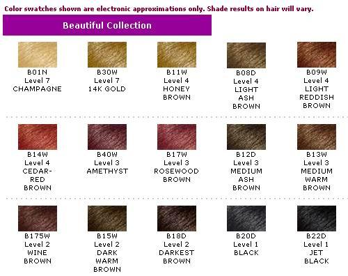 Hair Color Beautiful Collection Chart Not For Sale