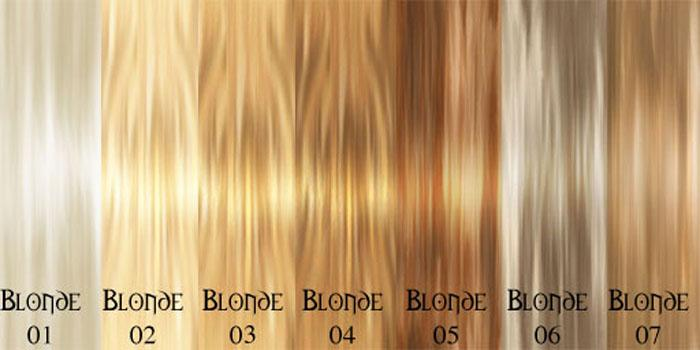 Hair Color Chart Avoid Incorrect Choice Natural Blonde