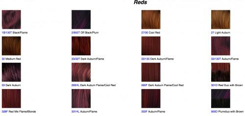 Hair Color Swatches