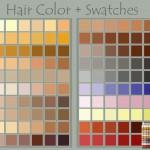 Hair Color Swatches Deviantnep