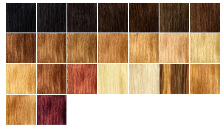 Hair Extensions Match Your Colour Chart