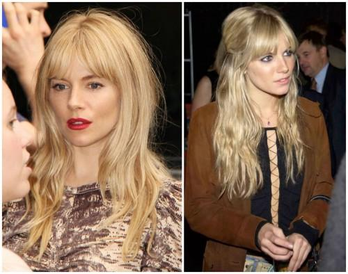 Hair Inspiration Middle Part Bangs