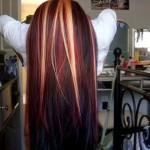 Hair Pictures About Dark Red Blonde Highlights