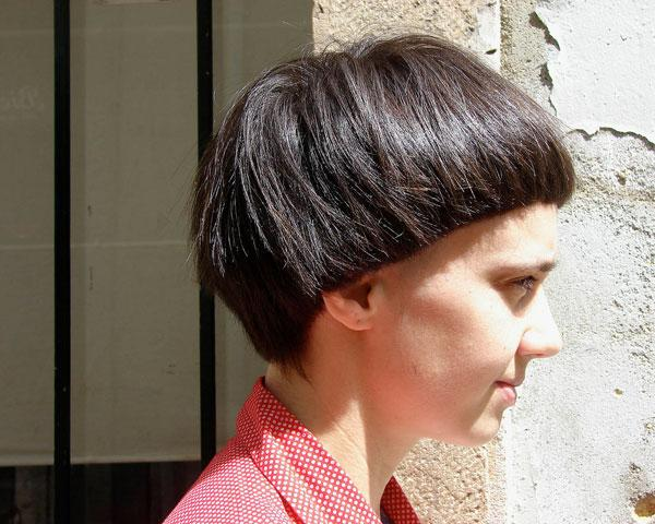 Hair Styled Unusual Fashion Letting Form Natural
