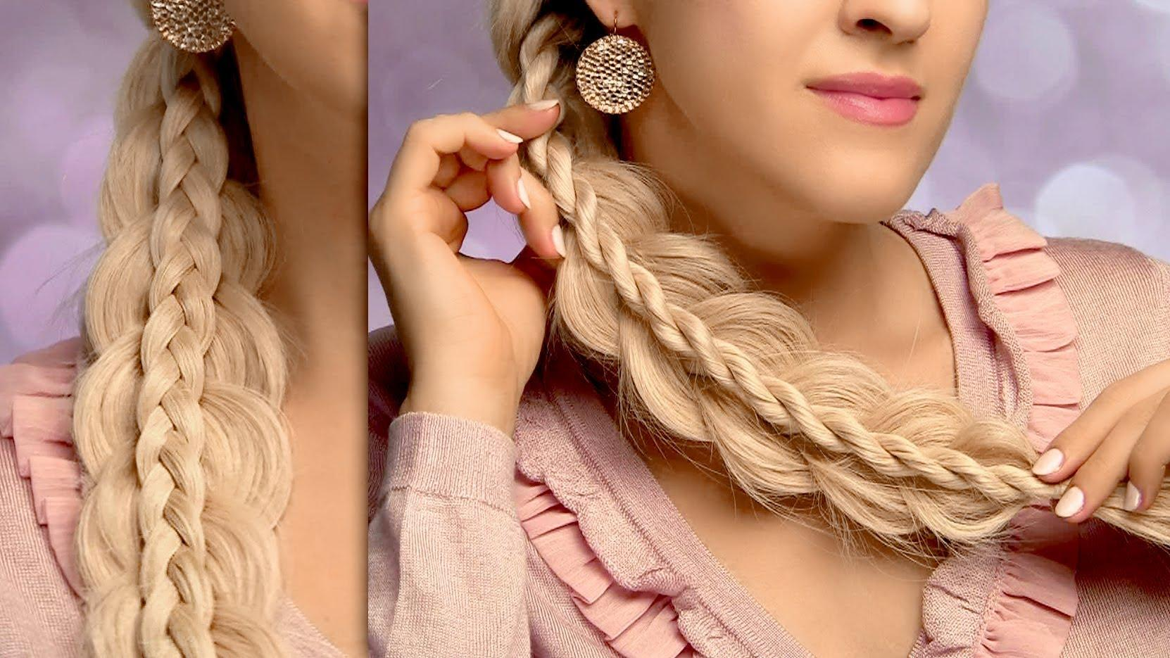 Hairstyles For Long Hair Intricate Side Swept Braids Tutorial
